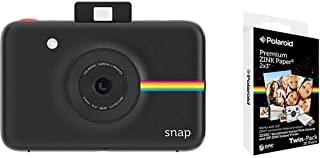Polaroid Snap Instant Digital Camera, Black With Polaroid 2x3 Inch Premium Zink 20PK Photo Paper Kit