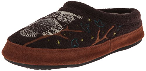 Acorn Women's Forest Mule Slipper, Chocolate, Small (5-6)