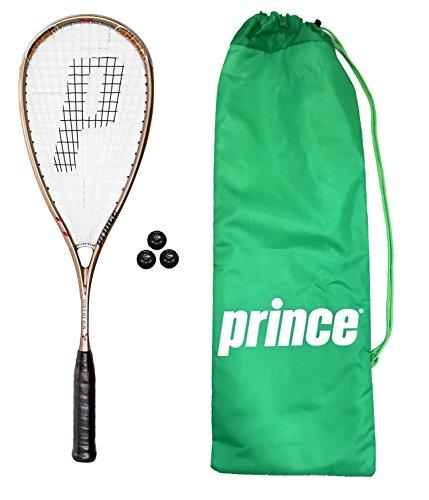 M D Trading Prince TT Soberano Raqueta de Squash + 3Pelotas de Squash...