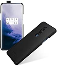 TETDED Genuine Leather Case for OnePlus 7 Pro, Handmde and Slim Fit Snap Cover, Caen (Nappa Black)
