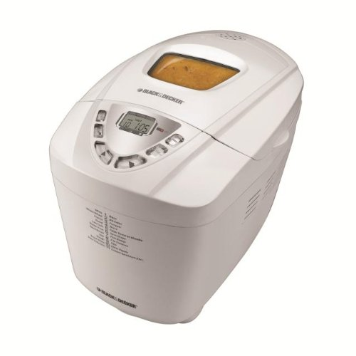 Black & Decker B6000C Deluxe 3-Pound Bread Maker, White