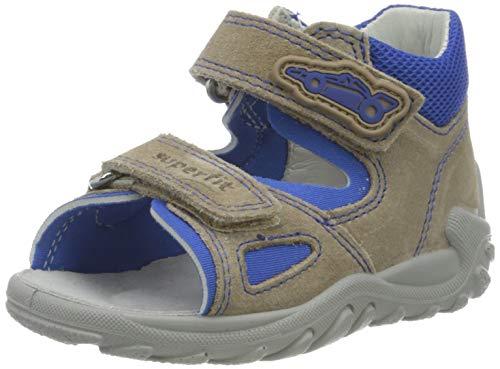 Superfit Baby Jungen Flow Sandalen, (Beige/Blau 40), 23 EU
