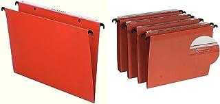 Esselte Dossier Suspendu Vertical, Fond 30 mm, A4, Lot de 25, Onglets Inclus, Orange & Dossier Suspendu Vertical, Fond 15 ...