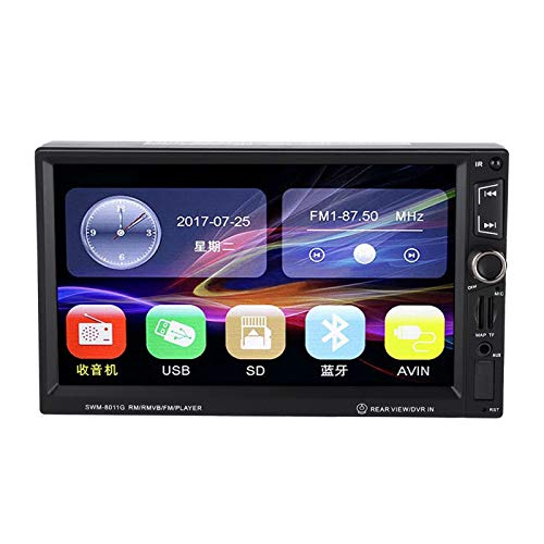 DAUERHAFT Reproductor de Video para automóvil GPS portátil Reproductor de Radio para automóvil Doble Eje Manos Libres Llamadas Inalámbrico, Escuchar música, para Transporte, para