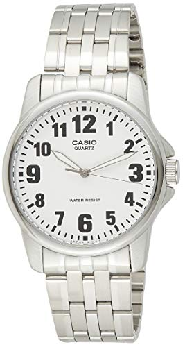 CASIO Reloj con Correa de Acero Inoxidable MTP-1260D-7B