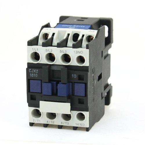 IIVVERR CJX2-18 Motor Control 3 Poles 1 NO Coil Volt 220V AC Contactor (CJX2-18 Control de motor 3 polos 1 NO bobina Volt 220V Contactor de CA