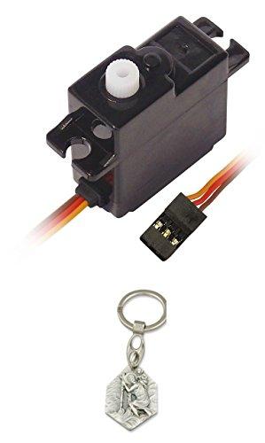 Sintr Servomotor Analog Kunststoffgetriebe für RC-Modelle, Modellbau (902988206162) mit Anhänger Hlg. Christophorus