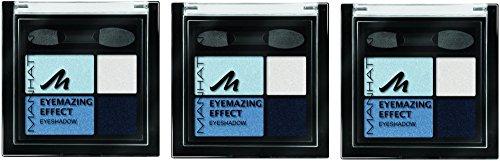 Manhattan Eyemazing Effect Eyeshadow – Schmink-Palette aus vier schimmernden Lidschatten-Farben für Smokey Eyes – Farbe Got The Blues 71W – 1 x 5g