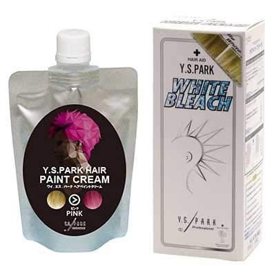 Y.S.PARK ヘアペイントクリーム ピンク 200g & Y.S.PARKホワイトブリーチセット