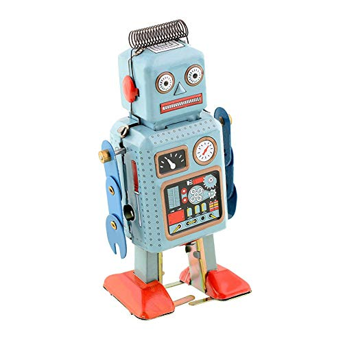 Wind Up Vintage Robot Retro Classic Clockwork Spring for Collection, Xmas, Gift, Party, Birthday, Festival, Surprise, Memories