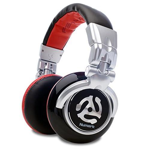 Numark Red Wave - Cuffie per DJ Full Range, Leggere, Pieghevoli, di Alta Qualità con Driver da 50 MM, Cavo Scollegabile, Adattatore da 1/8 di Pollice e Custodia Inclusa