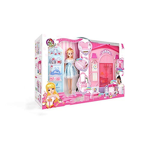Lihgfw Vielzahl von Luxus-Villa-Klagen, Big Geschenkbox, Mädchen Geschenke, Prinzessinnen, Spielhaus Spielzeug, multifunktionale Möbel, Puppen + 3 Stücke Kleidung + 70 Zubehör