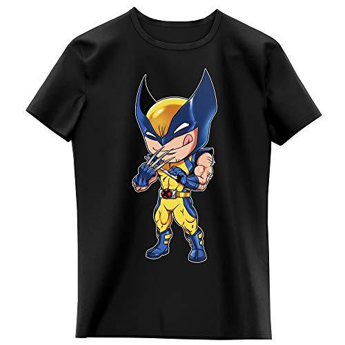Okiwoki T-Shirt Enfant Fille Noir Parodie Wolverine - Logan aka Wolverine - des Griffes Bien acérées. (T-Shirt Enfant de qualité Premium de Taille 9-10 Ans - imprimé en France)