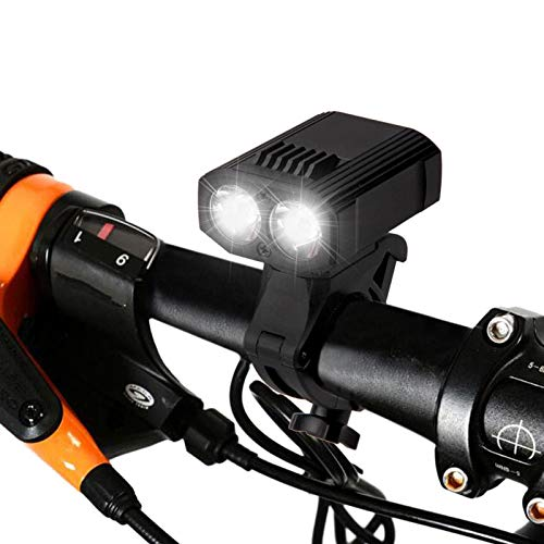 YIMIA Bike Light Built-in Battery Rechargeable USB Super Bright Night Rider Light Flashlight Night Ride Glare Lighting Mountain Bike Light