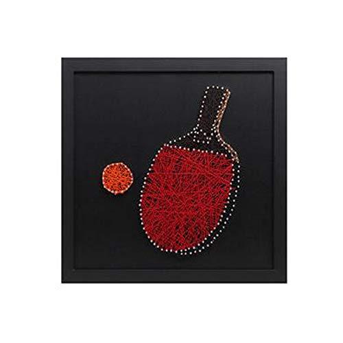 Dibujo de Bobinado de Uñas de Tenis de Mesa, Paquete de Material de Producción de Bricolaje, Regalo Creativo para Novio, Los 30 * 30cm,TableTennis