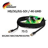 SOMMER CABLE - Koaxiales Videokabel mit BNC 75 Ω - HD/3G/6G-SDI / 4K-UHD SC-Vector 0.8/3.7 -...