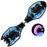 Patineta de waveboard Scooter de Dos Ruedas para niños jóvenes Dos Ruedas Rueda Intermitente Columpio Tablero de vitalidad Cohete, Blue 2