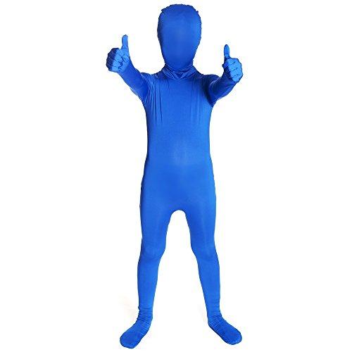Morphsuits kinderkostuum, S, zwart pak Large blauw
