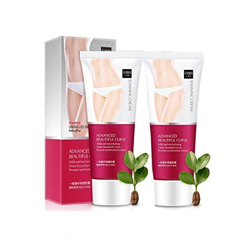 MTDH 2 STK. Sanfte Pflege Koffeinverbrennungscreme Beinkörpertaille Effektive Anti-Cellulite-Fettverbrennungscreme 2 * 60 g für die Formung Ihres Körpers Nähren Sie die...
