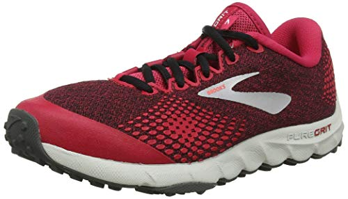 Brooks PureGrit 7, Zapatillas de Running para Mujer, Multicolor (Pink/Black/Grey 688), 38.5 EU