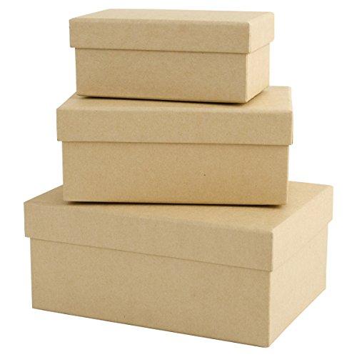 Papermania Docrafts, scatole matrioska Rettangolo Brown