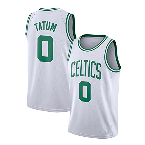 WCLOC Camiseta De Baloncesto para Hombre Y Mujer, Celtics #0 Tatum Camisetas De Verano Camiseta De Ventilador Chaleco Sin Mangas Ropa Deportiva Uniformes Deportivos Transpirables, (S-XXL)