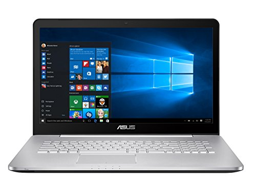 Asus N752VX-GC131T 43,9 cm (17, 3 Zoll FHD) Laptop (Intel Core i7 6700HQ, 8GB RAM, 1TB HDD, 256GB SSD, Nvidia GTX 950M 4GB, DVD, Win 10 Home) silbergrau