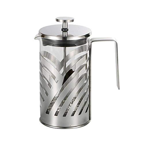HYZXK Cafetera de Prensa Francesa de Acero Inoxidable, cafetera aislada, cafetera, Tetera, cafetera, cafetera, Herramienta con cestas de Filtro, 1000 ml