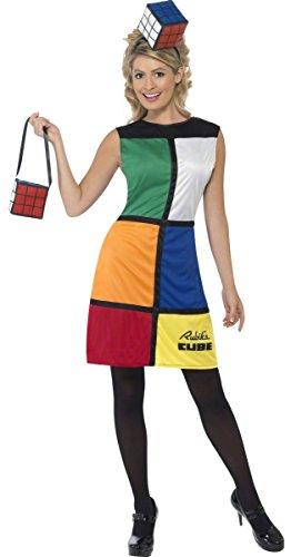SMIFFYS Film & TV cubo di Rubik con Licenza Rubiks Cube Costume Completo Travestimento