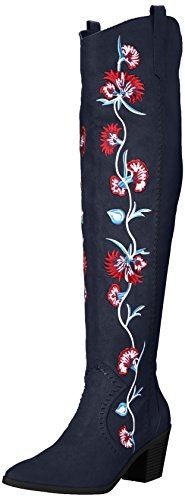 Carlos by Carlos Santana Women's Alexia Over The Knee Boot, Inkwell, 6 Medium US