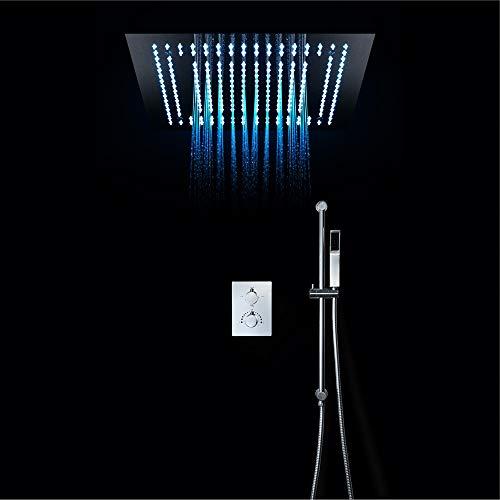Conjunto de ducha de lluvia Baño termostático Grifo de ducha Ducha ...