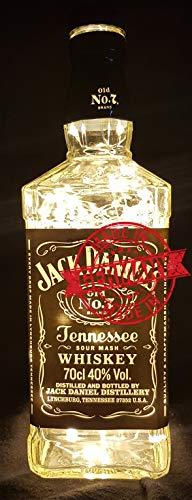 Lámpara de botella de Jack Daniel, con 80 ledes, blanco cálido, idea de regalo