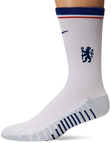 Nike Chels U Nk Squad Crew-GFX Socken, Unisex Erwachsene, White/Rush Blue/Gym Blue, M L weiß/rauschblau/gym-blau