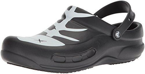 Crocs Crocs Bistro Graphic Clog, Unisex - Erwachsene Clogs, Schwarz (Black/white/black), 37/38 EU
