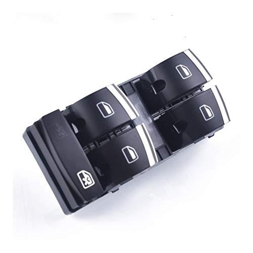 ZHIXIANG Interruptor de Ajuste de Cromo Ventana Principal for Audi A3 8P A4 S4 RS4 B6 B7 A6 S6 RS6 C6 4F0959851H Q7