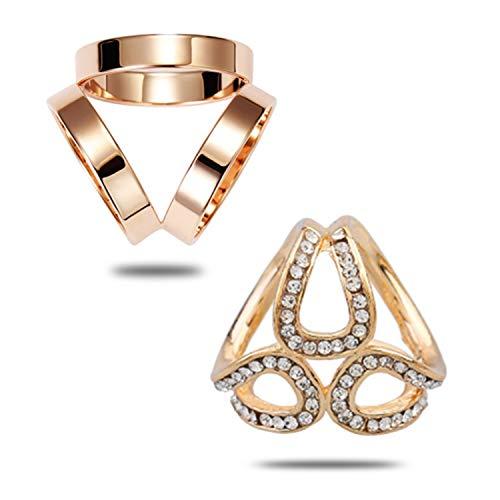 PPX 2 Stück Damen-Brosche/Clip für Schals und Tücher, mit Strass Verschönerung - Gold