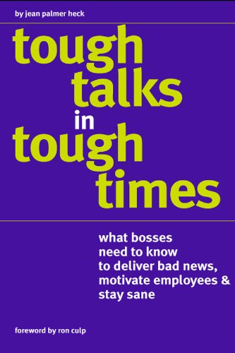 Tough Talks in Tough Times (English Edition)