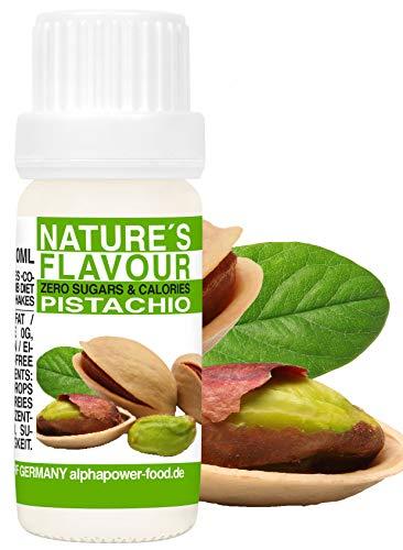 Flavour Drops Pistazie, Flavdrops I 100% natürliches Aroma, Geschmackstropfen ohne Kalorien & Zucker I Backaroma für alle Lebensmittel & Wasser mit Geschmack