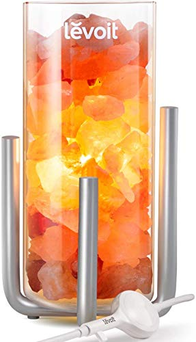 LEVOIT Viéra Himalayan Salt Lamp, Pink Rock Large Crystal Natural Himilian Gift...
