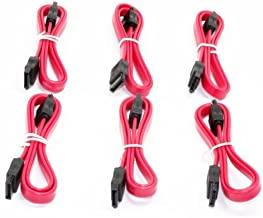 Aleratec SATA Data Cable 2.0 20in Serial ATA Straight Connector 6-Pack Combo
