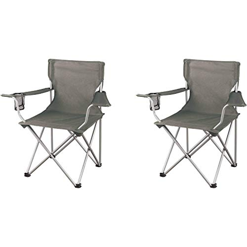 Ozark Trail Regular Armchairs, Grey, 2-Pack