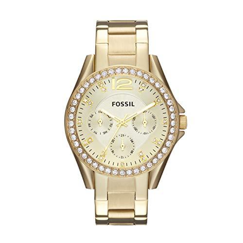 Fossil Damen Analog Quarz Uhr mit Edelstahl Armband ES3203