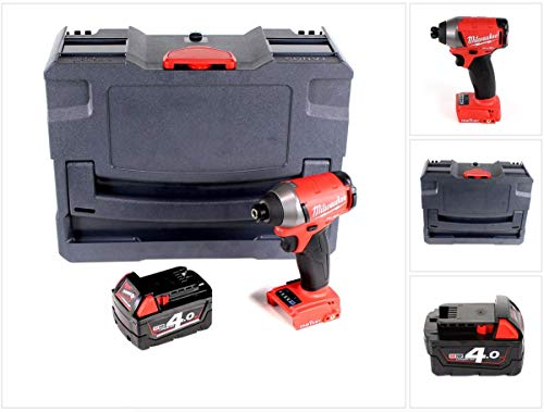 Milwaukee M18 ONEID-401 accu-slagschroevendraaier 18V 1/4' 203Nm + 1x accu 4,0 Ah in TANOS systainer® T-Loc II - zonder oplader