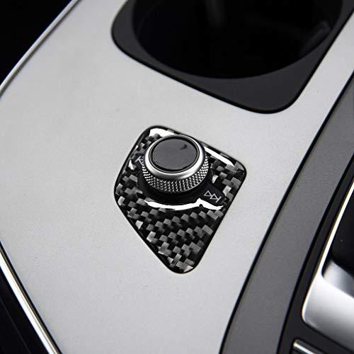 Cubierta decorativa del interruptor del altavoz del interior del coche de la fibra de carbono Refit para Q7 SQ7 4M 2016-2019 Accesorios (unidad derecha)