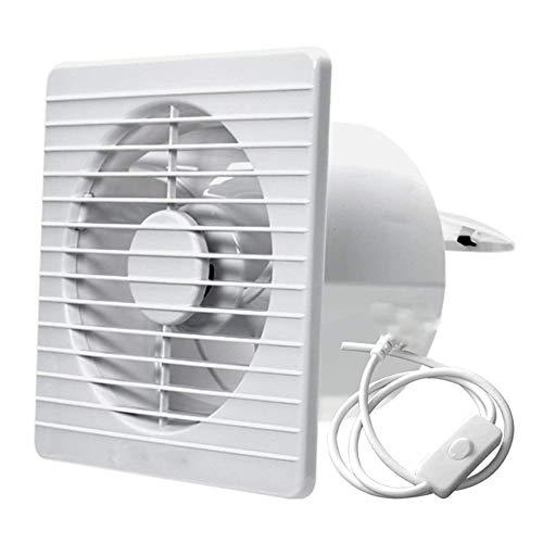 XJJZS Ventilador de Escape de 6 Pulgadas, Extractor de Aire de bajo Ruido montado en la Pared, Extractor de ventilación para el hogar, baño, Cocina, Extractor de ventilación de 10 W