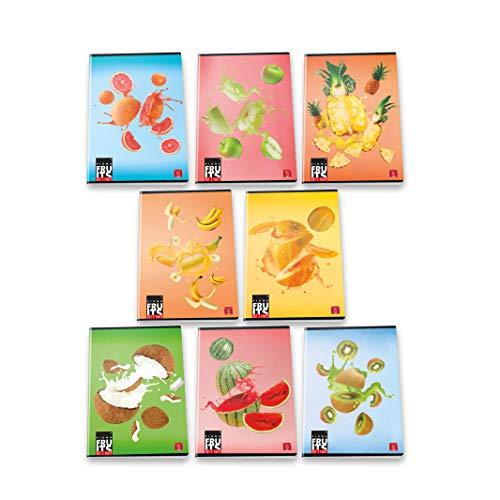Pigna Maxi Quaderni A4 Frutta, Confezione da 10 Pezzi, 02307681R, Righe
