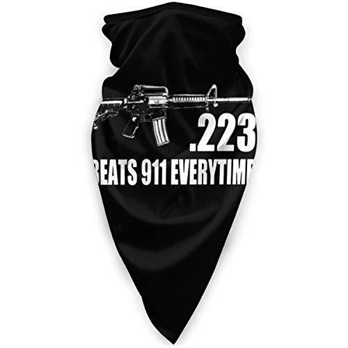 223 Caliber Ar15 M16 Assault Rifle 2nd Amendment Unisex Windproof Outdoor Face Mouth Mask Balaclava Mask Windproof Sports Mask Black