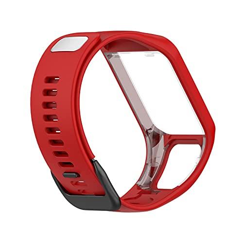 Wisvis Correa de reloj inteligente compatible con Tom Tom Tom Runner23/Spark, correa de silicona suave de repuesto para reloj inteligente
