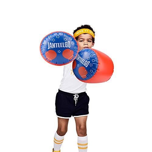 Aufblasbare Kinder Boxhandschuhe - JanTeelGO Aufblasbare Boxkissen für Jungen, Mädchen, Boxhandschuhe Boxsack Kickbox-Sparring-Handschuhe Kinder Spielzeug-Boxtraining 1 Paar Set