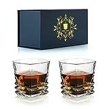 Juego de vasos de whisky de 2 vasos de whisky irlandés de coñac de whisky escocés de lujo de 300 ml / 10 oz - Juego de regalo de cristalería perfecta para beber para hombres, papá, esposo